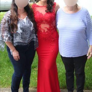 Jovani Dresses - Red Jovani Prom Dress